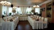 Wedding hall. video