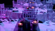 Wedding Reception Hall Table Setting video