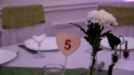 Wedding Reception Hall with Elegant Table Setting video
