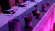 Wedding reception table set video