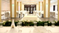 Wedding reception table video