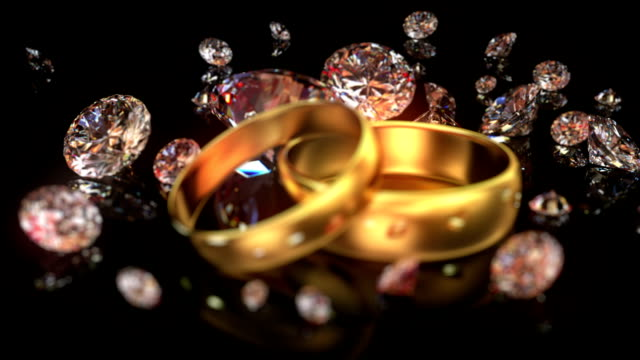 Wedding rings and diamonds video