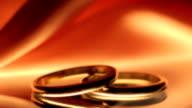 Wedding Rings at Sunset video