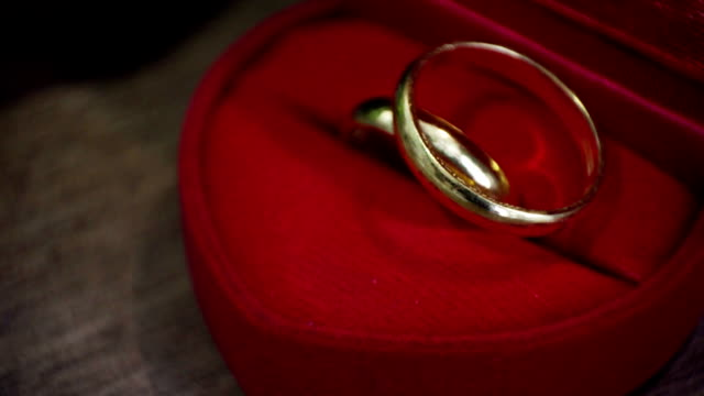 Wedding Rings in a Red Box video