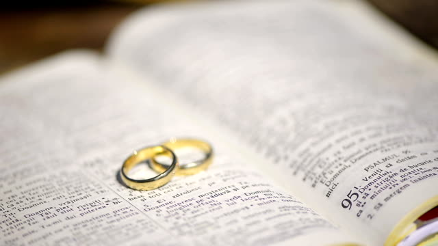 Wedding Rings on a Bible video