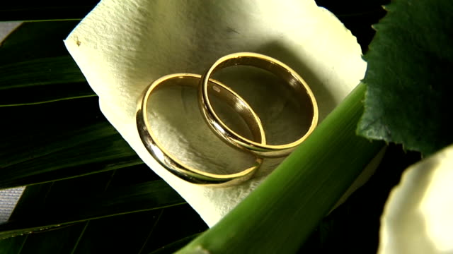 HD: Wedding rings video