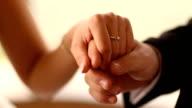 Wedding rings. Wedding couple video
