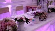 Wedding room decorated video