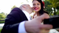 Wedding selfie video