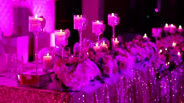 Wedding table set video