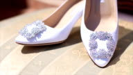 Wedding white shoes video