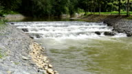 Weir Water Storage in countryside video