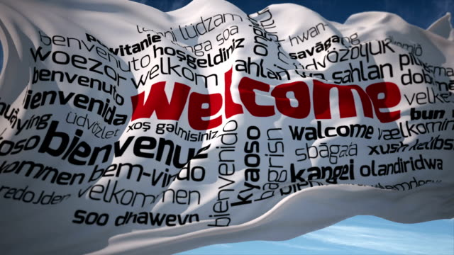 Welcome in different languages video