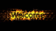 Welcome text video