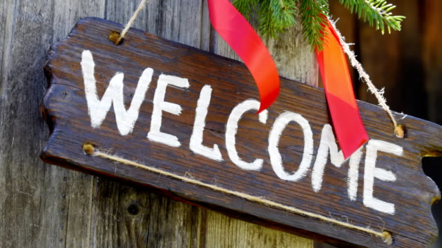 Welcome wood sign video