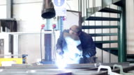 welder at work - dolly video