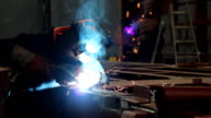 Welder at work video