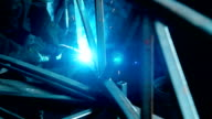 welder Industrial automotive part in factory video