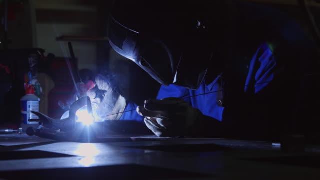 TIG Welder Lighting Up Workshop and Smoking video