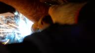 Welder Repairing Car Exhaust System Muffler video