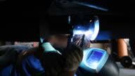 Welder Repairing Truck Exhaust video