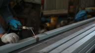 Welder working. video