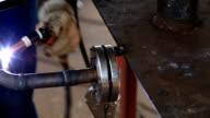HD: Welding A Pipe video