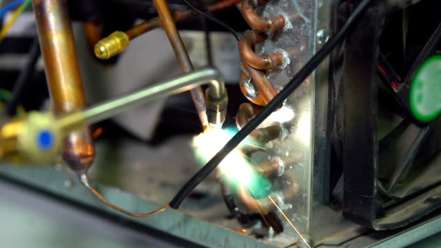 welding of air condition copper tube video