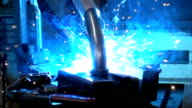 Welding power super slowmotion video