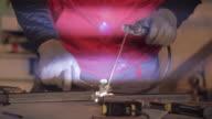 Welding process closeup shot video