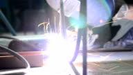 welding steel close-up video