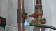 HD: Welding Valves On Pipes video