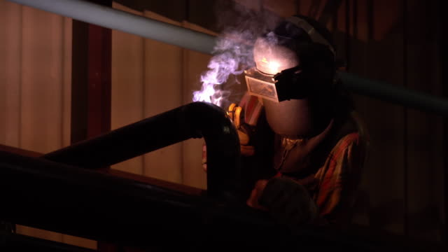 Welding works on Steam pipeline video