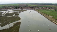 Wells And Harbour  - Aerial View - England, Norfolk, North Norfolk District, United Kingdom video