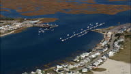 Wells Harbor - Aerial View - Maine,  York County,  United States video