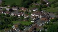Weobly Village  - Aerial View - England, Herefordshire, Weobley, United Kingdom video