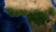 West Africa from space video