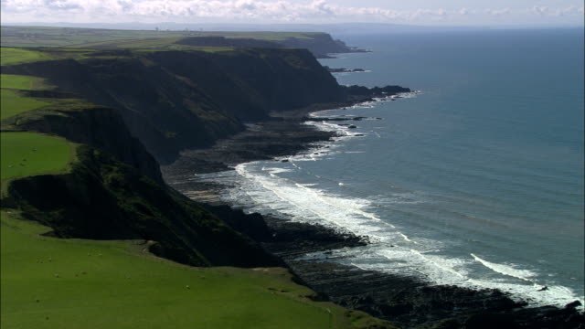 West Devon Coast  - Aerial View - England, United Kingdom video