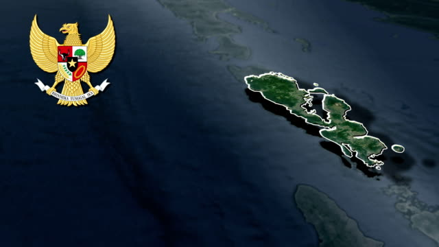 West Nusa Tenggara with Coat Of Arms Animation Map video