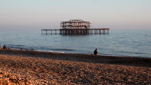 West Pier Ruins in Brighton video