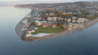 West Seattle Alki Point Aerial View video