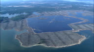 West Side Of Pamlico Sound And Broad Creek  - Aerial View - North Carolina,  Pamlico County,  United States video
