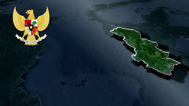 West Sulawesi with Coat Of Arms Animation Map video