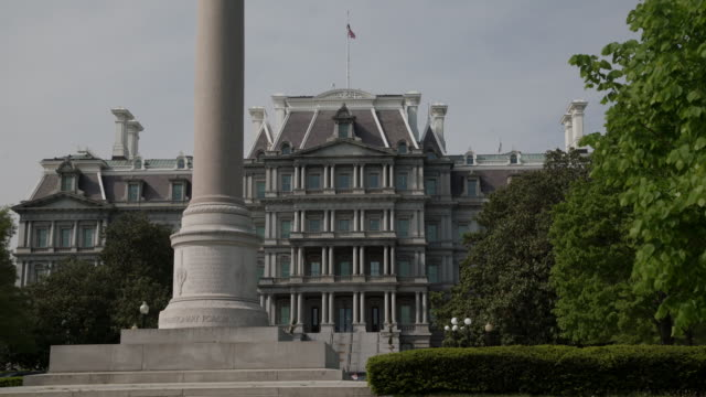 West Wing White House Old Executive Office Building in 4k/UHD video