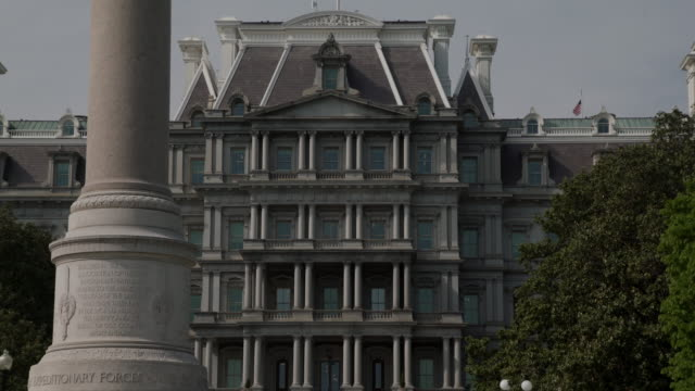 West Wing White House Old Executive Office Building Zoom Out in 4k/UHD video