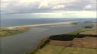 Western Pomerania Lagoon Area National Park - Aerial View - Schleswig-Holstein,  Germany video