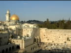 Western Wall and Dome of the Rock in Jerusalem video