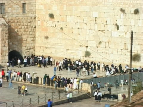 NTSC - Western Wall, Jerusalem, Israel video