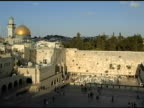Western Wall with Dome of the Rock in Distance video