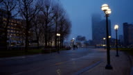 Westferry Circus at Canary Wharf London recreation area video